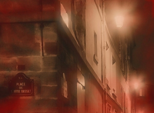Calle Oscura en Fin de Noche